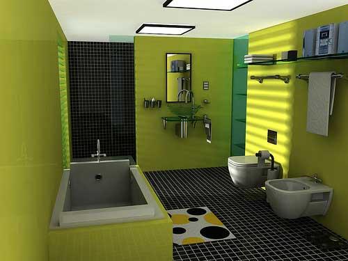 05desain kamar mandi rumah minimalis Kumpulan Desain Rumah Minimalis 2015 Warna Cat Hijau