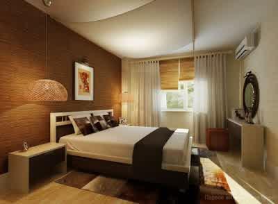 Bedroom Interior Design at Small Apartment Interior Design by Artem Kornilov 565x415 Rumah Gaya Modern oleh Artem Kornilov