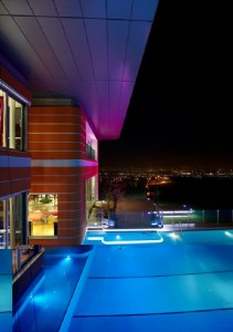 Ceiling and Swimming Pool Futuristic Orange House in Ankara Turkey by Yazgan Design Architecture 211x300 Desain Rumah Idaman yang Nyaman