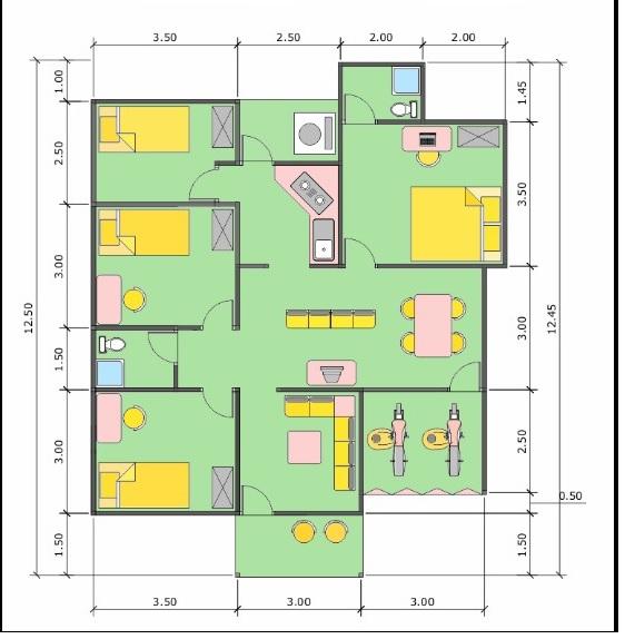 Contoh Desain Rumah Minimalis Gambar Sketsa Denah Rumah Minimalis Sederhana Modern 2015