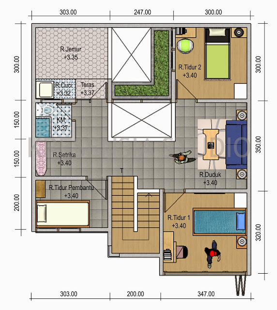 Denah Rumah Minimalis Modern 1 Gambar Sketsa Denah Rumah Minimalis Sederhana Modern 2015