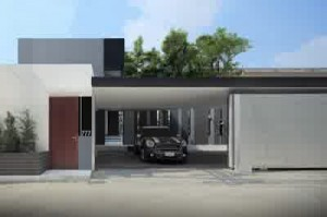 Garage Design Ideas for Modern Small House in Yen Akat Road Bangkok 700x466 300x199 Rumah Asia Style Modern di Bangkok Thailand