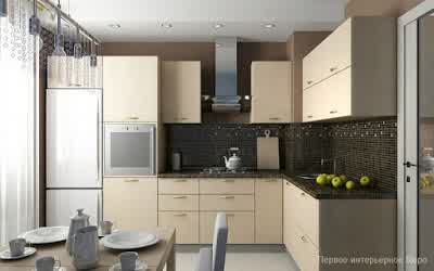 Kitchen Furniture at Small Apartment Interior Design by Artem Kornilov 600x375 Rumah Gaya Modern oleh Artem Kornilov
