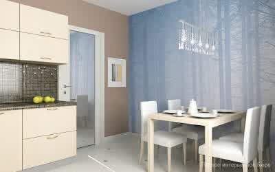 Kitchen and Dining in Small Apartment Interior Design by Artem Kornilov 600x375 Rumah Gaya Modern oleh Artem Kornilov