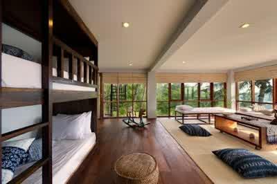 Multifuction Room Design in Malimbu Cliff Villa in Lombok Island Indonesia 700x465 Desain Rumah Mewah Terletak di Nusa Tenggara Barat Indonesia