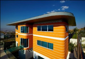 Three Floor Futuristic Orange House in Ankara Turkey by Yazgan Design Architecture 300x207 Desain Rumah Idaman yang Nyaman