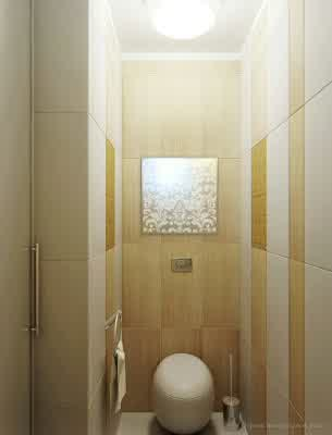 Toilet Design at Small Apartment Interior Design by Artem Kornilov Rumah Gaya Modern oleh Artem Kornilov