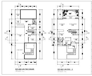 contoh gambar Denah Rumah Minimalis 2 Lantai modern Contoh Denah Rumah Minimalis 2 Lantai Modern