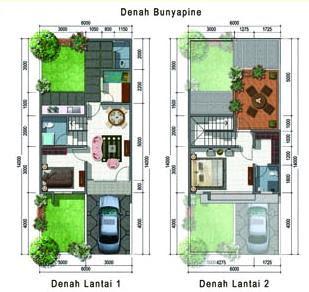 contoh gambar Denah Rumah Minimalis 2 Lantai modern3 Contoh Denah Rumah Minimalis 2 Lantai Modern