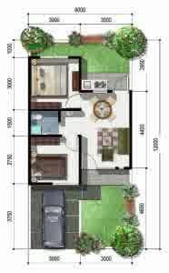 denah rumah minimalis 2 186x300.jpg2  Contoh Desain Denah Rumah Minimalis 2 Lantai yang Sederhana