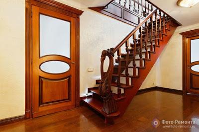 foto remonta.ru .1 Contoh Gambar Desain Tangga Rumah Modern