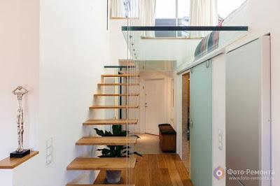 foto remonta.ru .2 Contoh Gambar Desain Tangga Rumah Modern
