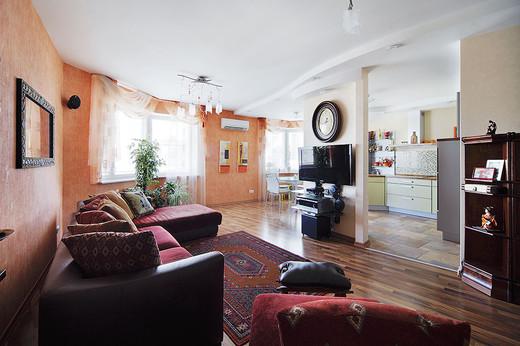 myhome.ru1  Desain Rumah Apartemen dengan Furnitur Warna Cantik