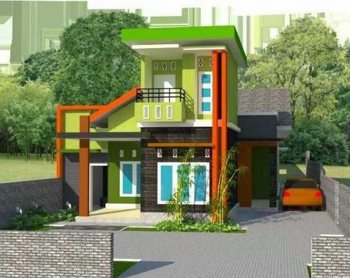 rumah minimalis cat hijau 1 Kumpulan Desain Rumah Minimalis 2015 Warna Cat Hijau