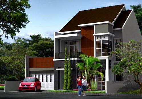 Desain Rumah Minimalis 2 Lantai Bergaya Modern 2 Desain Rumah Minimalis 2 Lantai Pakai Atap