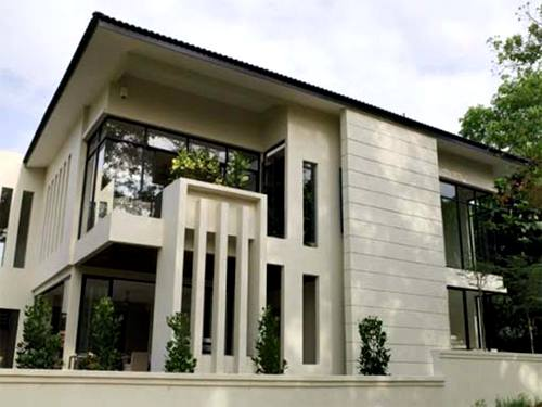 desain rumah minimalis 2 lantai bergaya modern 2014 Desain Rumah Minimalis 2 Lantai Pakai Atap
